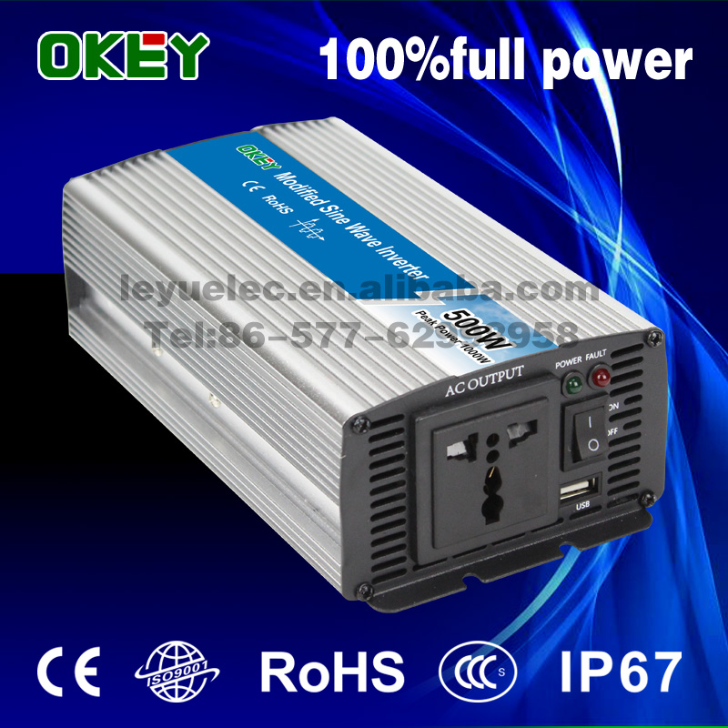 hot product off grid small size high quality 500w 12v to 220v dc/ac modified sine wave inverter solar inverter home inverter(China (Mainland))