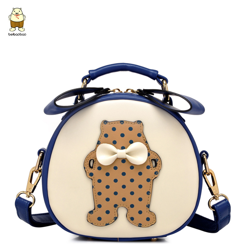 summer new arrival 2015 Fashion Cartoon Small Patchwork Women Messenger Bags  Crossbody Bag Casual PU Leather Satchels