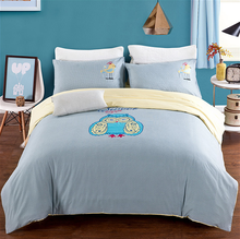 American Style Owl Applique Bedding Set 4pcs/set Bed Linings Bedclothes Bedsheet Sheet Pillowcase 100% Cotton Home Textile(China (Mainland))