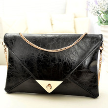 Buy NEW Women Girl Clutch Purse Envelope Korea style Evening bag Patchwork chain envelope bag day clutch messenger bag Size 28*19 for $10.23 in AliExpress store