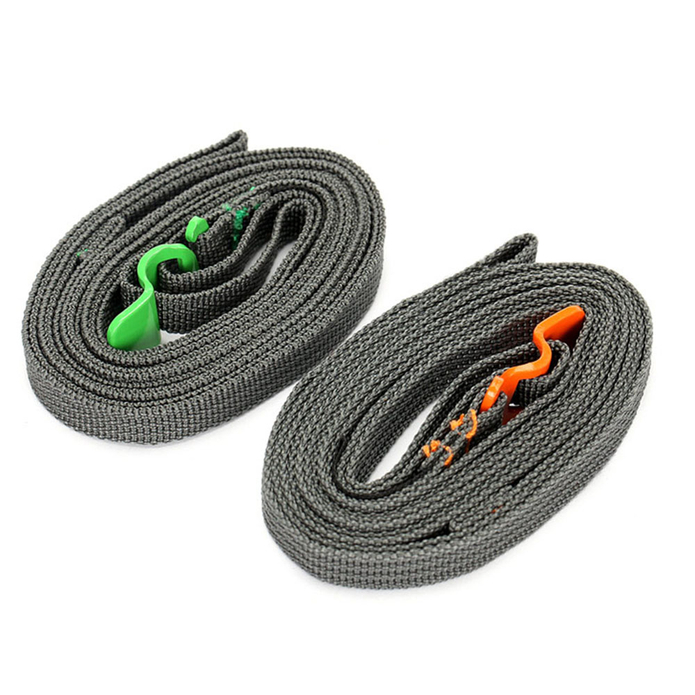 2.5m Outdoor Travel Luggage Strap Cycling Suitcase Strap Secure Lock Strap Belt Green/Orange(China (Mainland))