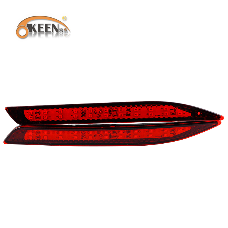 7W 2pcs led Parking warning light Tail light LED Waterproof red rear bumper reflector light 0.6A DC12V tail lamp fit Accord 9th(China (Mainland))