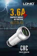 Buy LDNIO 3.6A Dual Port USB Car Charger Mini Universal Fast Smart Car-Charger Apple iPhone 7 LG Samsung Xiaomi Phone PC for $13.60 in AliExpress store
