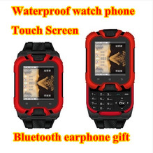 2015 New Arrival D20 Touch Screen Watch Phone Waterproof Cell Phone Personalized With Mini Bluetooth Earphone Gift Free Shipping(China (Mainland))