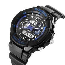 Relojes hombres S-SHOCK Sports militar reloj de moda relojes de hora Dual analógico Digital cuarzo LED 5AT relojes Relogio Masculino