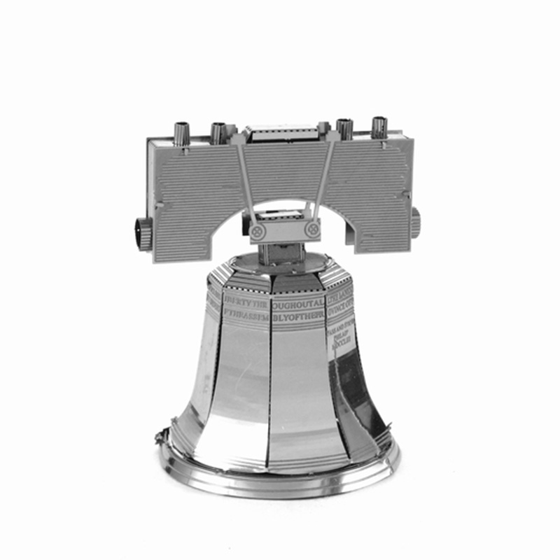 Liberty Bell World's Famous Building Landmark DIY 3D Puzzle Metal Assembled Model Jigsaws Best Toys Gift Present For Children(China (Mainland))