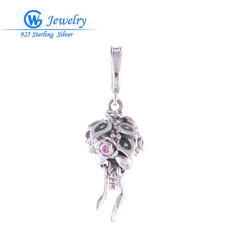 Европейский марка 925 чистое серебро подвески-талисманы для ювелирные изделия делает модное ювелирные изделия S004