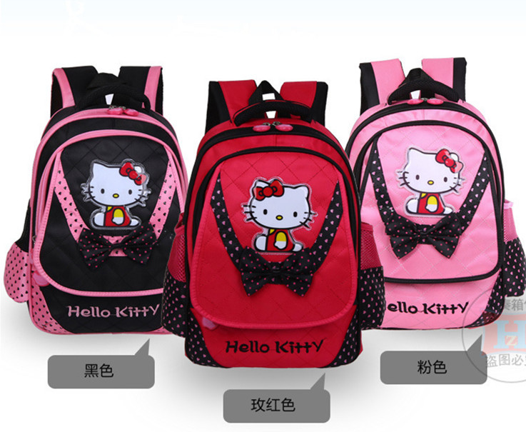 New Arrival Hello Kitty Backpack Girl Bag Student School Bags Primany School Bag(China (Mainland))