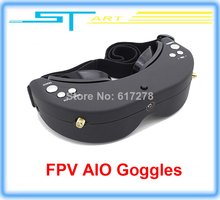 10pcs/lot Free shipping Skyzone SKY01 FPV AIO Goggles 5.8GHz Dual Diversity 32 Channels Receiver With Head-Tracker for toy gift