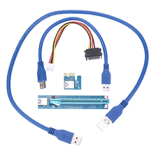Buy USB 3.0 PCI-E Express 1X 16X Extender Riser Adapter Card 30CM/60CM USB Power Cable SATA 15pin Male 4pin Cable for $5.90 in AliExpress store
