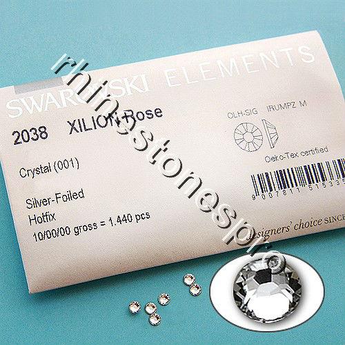 GENUINE Swarovski Elements ss20 Crystal clear ( 001 ) 1440 pcs Iron on 20ss Hot fix Flatback Glass beads 2038 Hotfix rhinestones(Hong Kong)