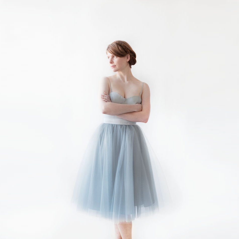 tulle skirt ribbons waist a line knee length tutu skirt