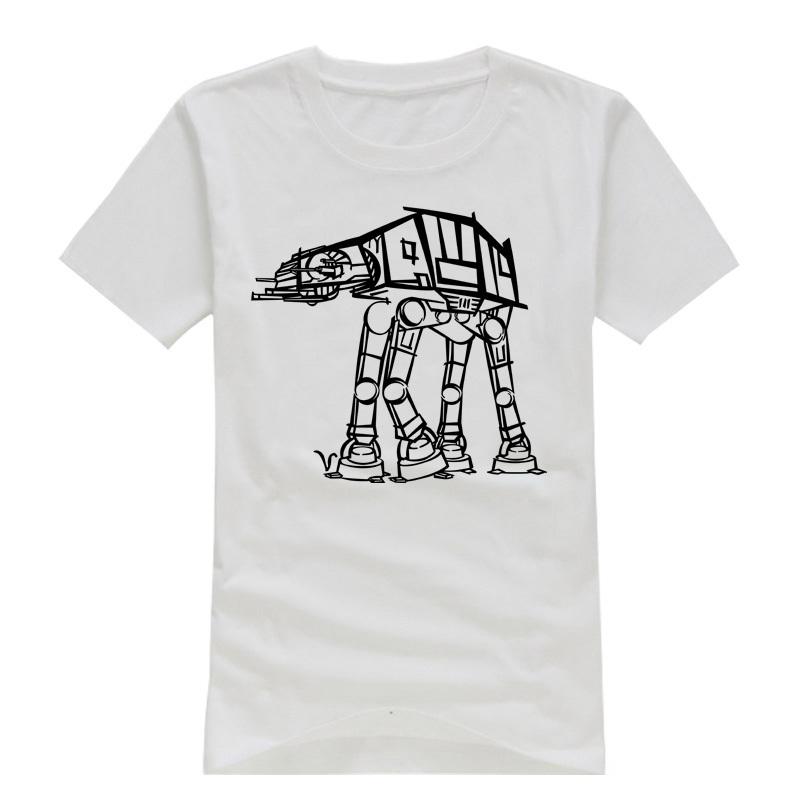 حرب النجوم الامبراطوري ووكر at-at الرجال قمصان قصيرة الأكمام رجل الألفية فالكون الرسوم الكاريكاتورية التي-- قميص قميص تي لعبة الترفيه الأعلى(China (Mainland))