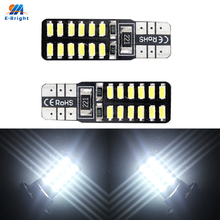 Buy YM E-Bright Super bright !! 10PCS Canbus ERROR FREE T10 W5W 194 168 3014 24 SMD 24 LED 12V DC License Plate Lights Reading Lamps for $7.72 in AliExpress store