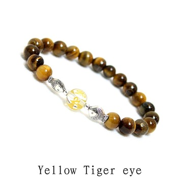 Natural stone Bracelet Clear Crystal round beads Bracelet Multicolor Natural Stone Strand Bracelets For Women 10 pieces / lot