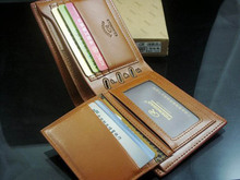 Brown Billfold Coffee Leather Wallet Credit Card Men Purse Clutch Bifold