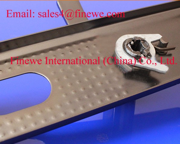 Manufacture Custom spring steel for door handles coated black