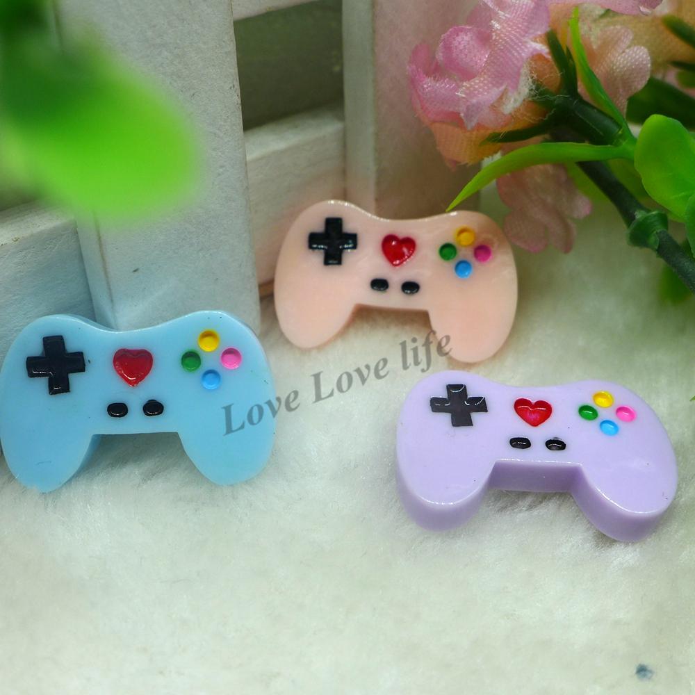 18*29mm ! Kawaii Gamepad flatback resin cabochon hair bow decoden phone case diy Embellishment - Love Life store