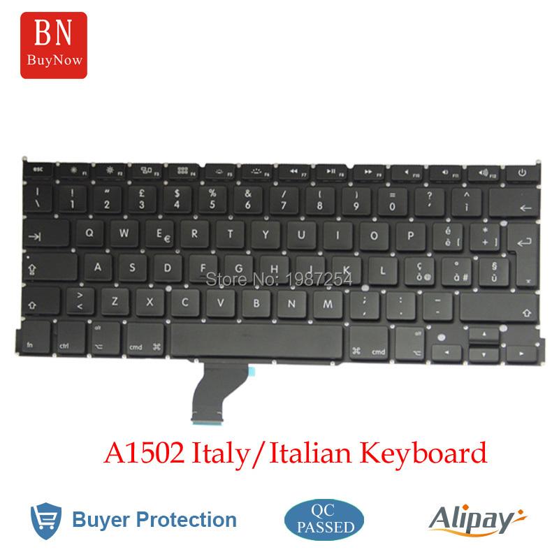 New Italy Keyboard For Apple Macbook Pro Retina 13'' A1502 Italy Italian Keyboard(China (Mainland))