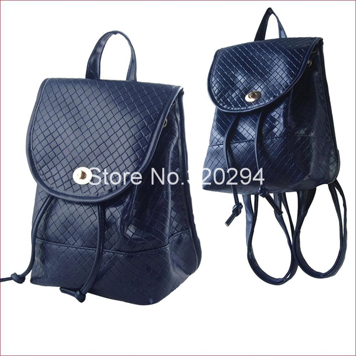 2014 Fashion Backpack Women Girls Small Female PU Leather School Bag Preppy Style Navy Color - Excellent Etop Shopping store