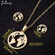 Jisensp Mode Baum des Lebens Edelstahl Halskette für Frauen Gold Aussage Halskette Kette Männer Schmuck bisuteria mujer(China)