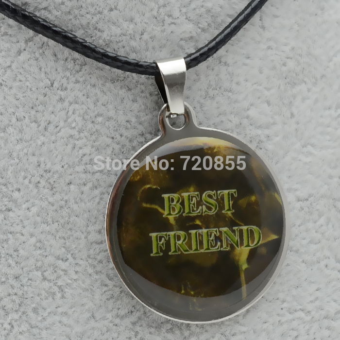 Best Friend Necklace Pendants Men Women Stainless Steel Enamel Jewelry Metal Best Gift for Friend,Free Rope,Buy 6pcs OFF 50%(China (Mainland))