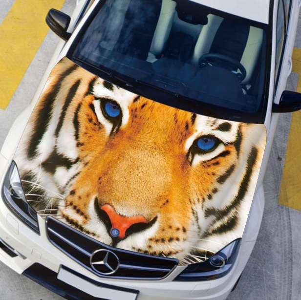 EMS custom hood paste Lions, leopards car front cover Fire tiger front cover sticker customizable engine stickers AD02(China (Mainland))