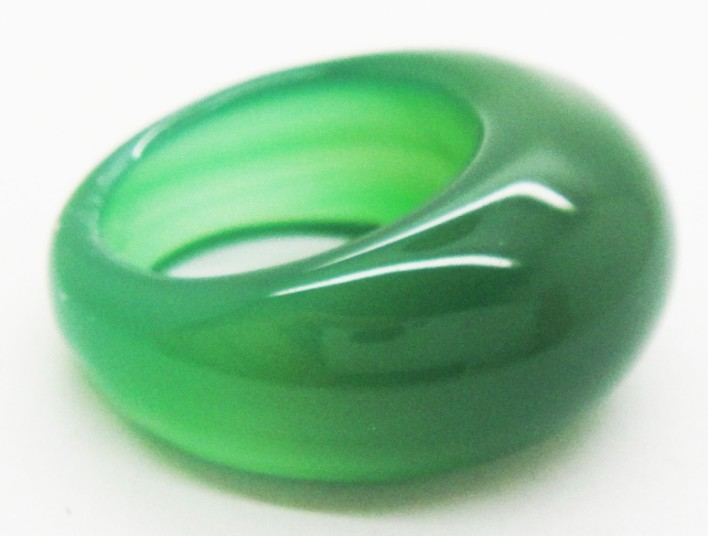 Free shipping High quality green agate ring jade ring for Men and Women crystal wedding rings wholesale(China (Mainland))