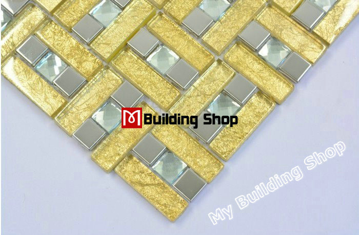 Stainless steel glass mosaic tile SSMT178 kitchen glass tiles stainless steel tile backsplash diamond glass mosaic bathroom tile<br><br>Aliexpress