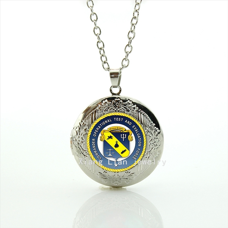Commander Operational Test and Evaluation Force military picture locket necklace new fashionable stylish men jewelry MI051(China (Mainland))