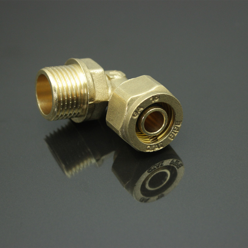 Hydraulic quick coupler l quot m pipe brass male eblow