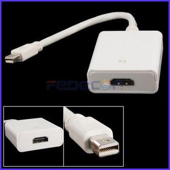 New Mini DisplayPort Plug to HDMI Socket Adapter w Cable 10pcs/lot