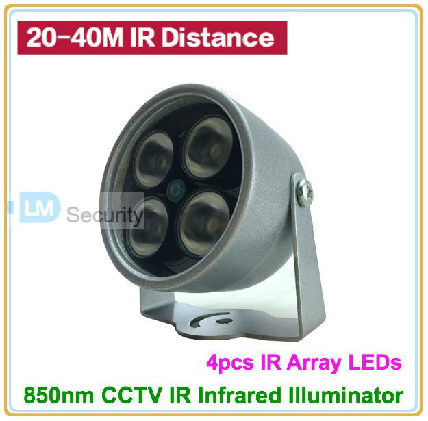 Mini type CCTV 4pcs IR ArrayLED Illuminator Light 850nm CCTV Security Camera IR Infrared Night Vision Lamp(China (Mainland))