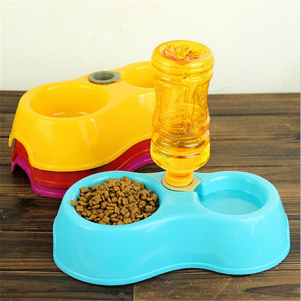Utensils Bowl Cat Drinking Fountain Food Automatic Water Dish Pet Dispenser Feeder Dual Port Dog Automatic Water Bowl Pet Bowl(China (Mainland))
