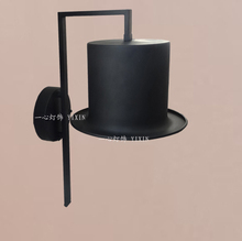 2014 vintage American country minimalist bedroom bedside lamp personalized hats off meals aisle industrial wrought iron lamps