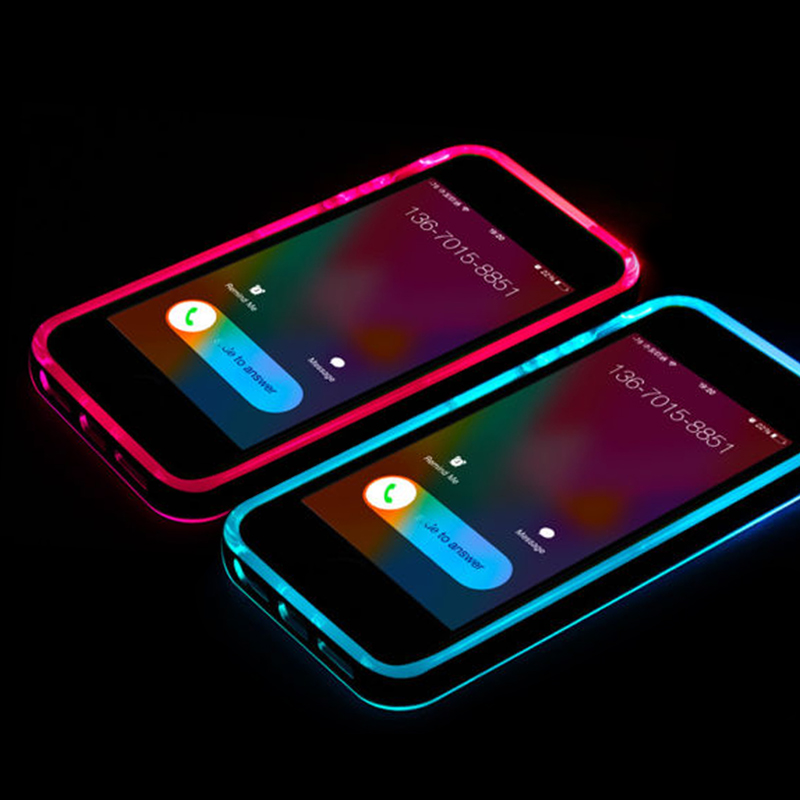 Protect Hot Sale Incoming Call LED Lights Up Phone Case for iPhone 5 5s New Arrivals Free Shipping(China (Mainland))