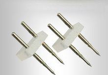 3528 5050 LED Strip Connect Needles 4mm 6mm LED Strip 2 Pins Connector Needle Pin for 220V High Voltage LED Tape Use(China (Mainland))