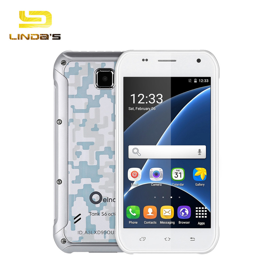 5.0 inch Oeina Tank S6 Android 5.1 Smartphone Waterproof Shockproof MT6580 Quad Core 3G Dual SIM 8GB +512MB RAM Mobile Phone(China (Mainland))