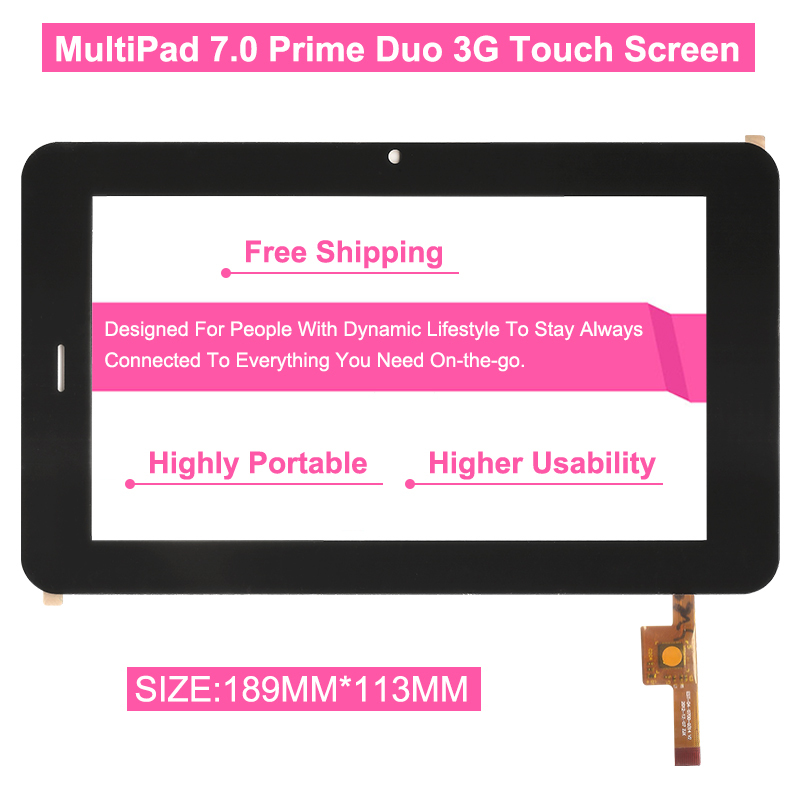 Hot Free Shipping Original 7 Inch For PRESTIGIO MultiPad 7.0 Prime Duo 3G PMP7170B 3G EST-04-0700-0314 V2 Tablet Touch Screen(China (Mainland))