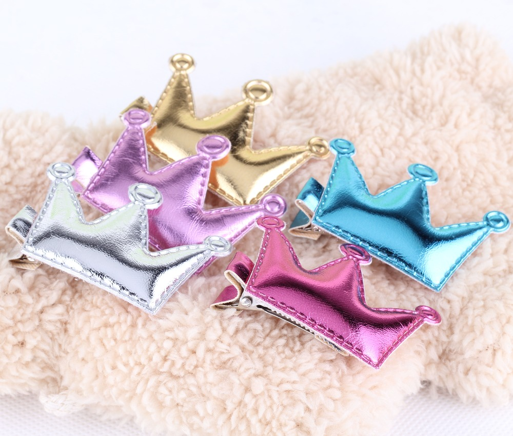 Cheap Price Baby Hair Accessories Sweet PU Star/ Crown Baby Girls Hairpins Grips Kids Barrette Novelty Lovely Baby Hair Clip(China (Mainland))