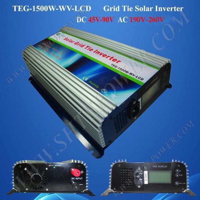 1500w pure sine wave inverter solar power inverter 45v 1500w on grid power inverter(China (Mainland))