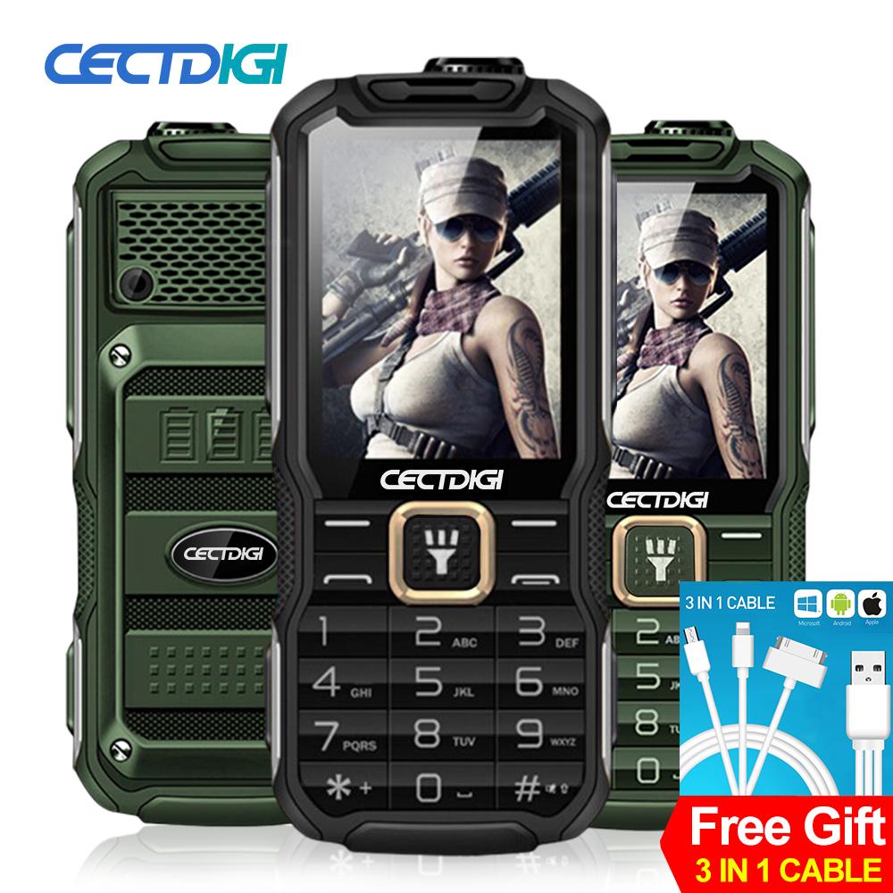 Cectdigi 2016 Latest T9900 Dual Sim Unlocked Cell Phone Quad Band Russian Keyboard 15800 mAh Power Bank Military Rugged Phone(China (Mainland))