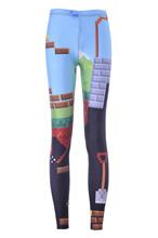 2015 new digital sky building pattern Leggings Pants fashion slim pants pants