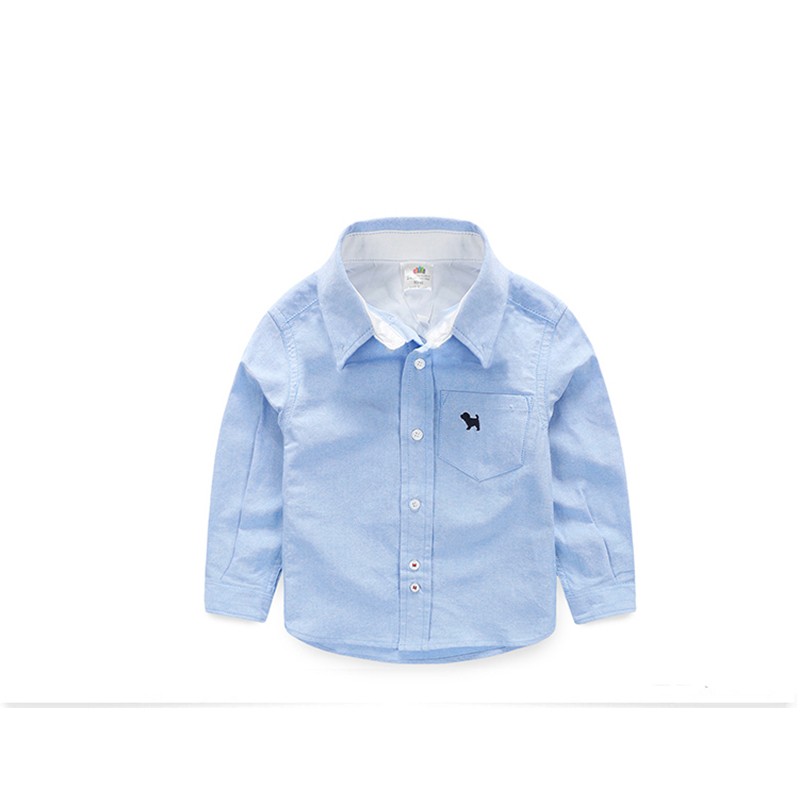 Solid Shirt For Boys With Long Sleeves White Blouse Children Toddler Boy Shirts Brand Boys Button Shirt Children Clothing BK22<br><br>Aliexpress