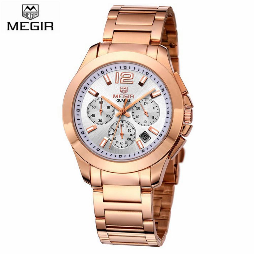 MEGIR Luxury Brand Watch Chronograph Function Waterproof Full Steel Quartz Watch Fashion Sport Watches Men Military Watches Hour<br><br>Aliexpress