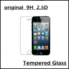 2Pcs/lot Advanced Tempered Glass Screen Protector For Apple Iphone 5 5s 5C Protection Cover Toughened Protective Guard Film