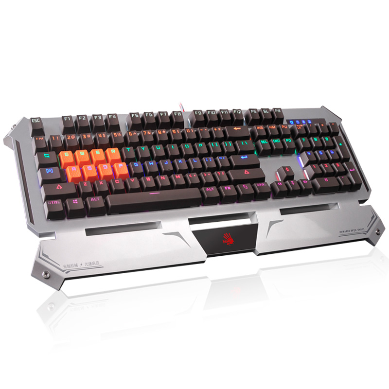 A4tech Bloody B740A Worlds Fastest Key Response Light Strike Game Mechanical Keyboard for DOTA LOL CF Free Shipping<br>
