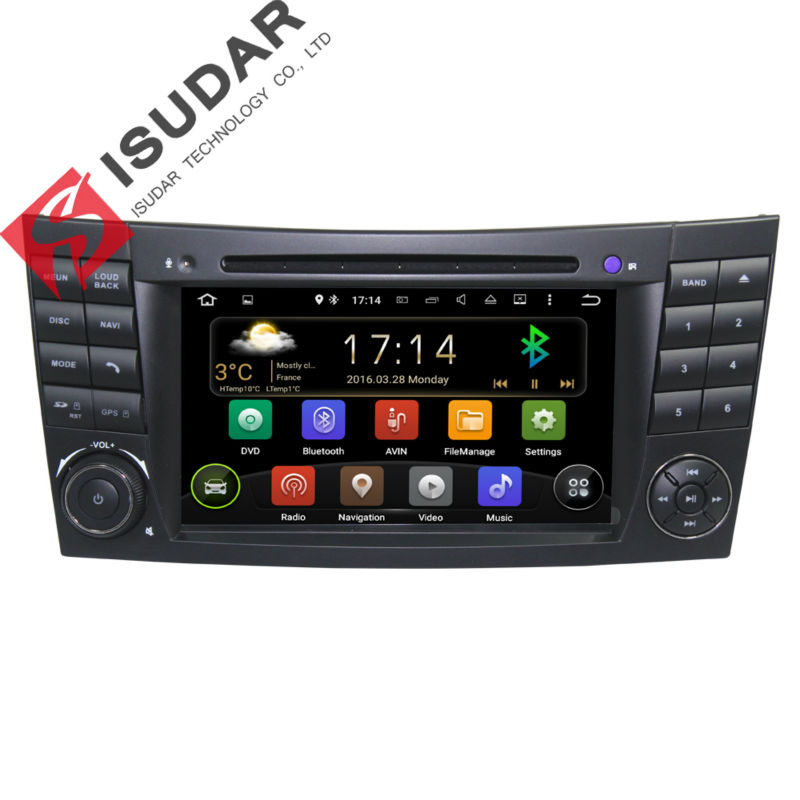 Wholesale! Two Din 7 Inch Android Car DVD Player Video For E-Class/W211/Mercedes/Benz/CLK/G-Class/W463/CLS/W219 Wifi GPS Radio(China (Mainland))