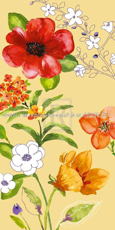 Sandra Jacobs Fusion Flowers Designer painting Or Various Sizes Hand Painted Cheap Wall Picture Tuscan Landscape Painting(China (Mainland))
