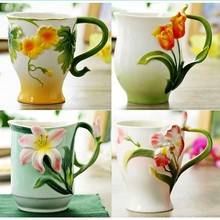 The cheapest Coffee cup complete set of kung fu tea Coffee cup 450 ml Bone China  Milk cup Handpainted coffee cup coffee set